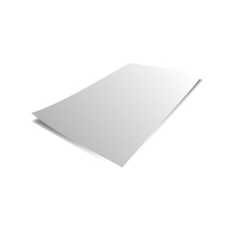 Blank grey and white paper mock up with white background using for card