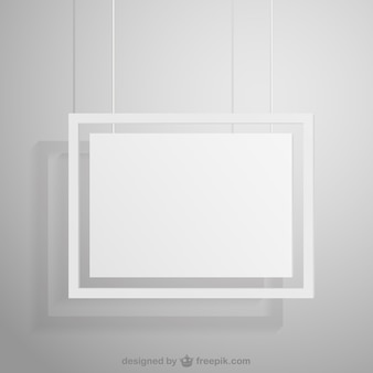 Blank hanging frame