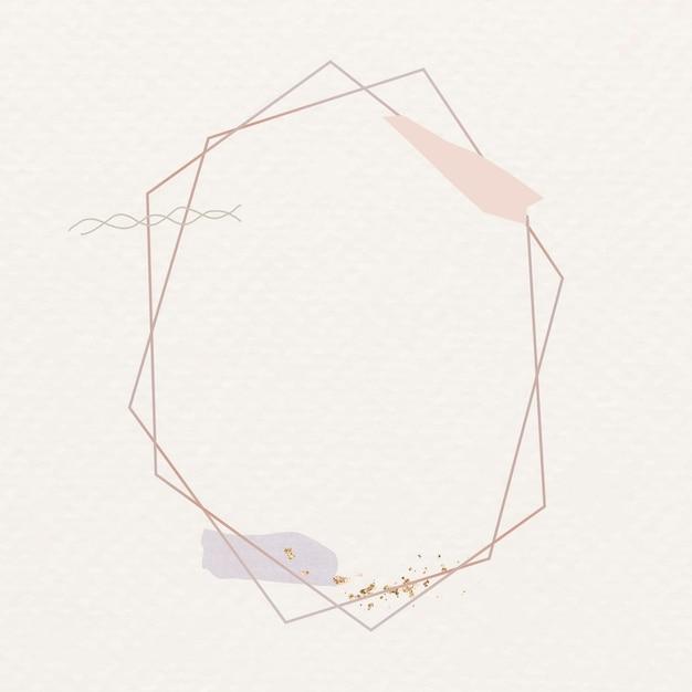 空白の六角形のフレームデザイン