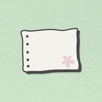 空白の穴パンチ紙ノートベクトル