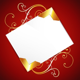 Blank invitation on red