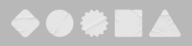 Пустые этикетки разной формы