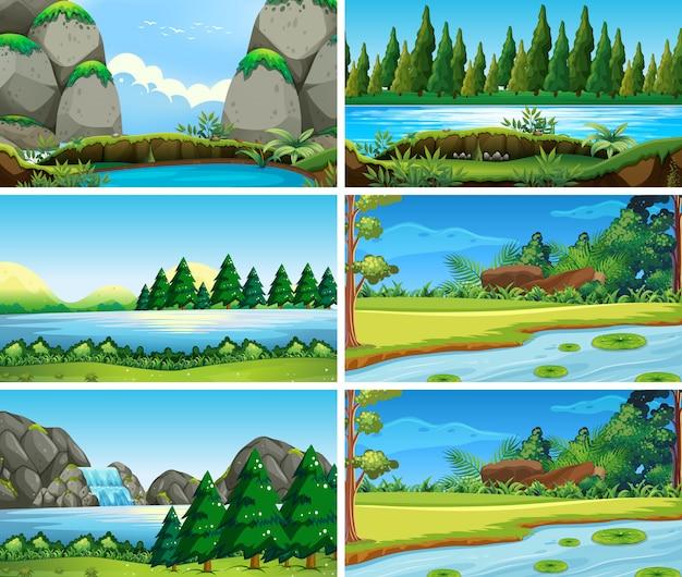 Blank landscape nature scenes