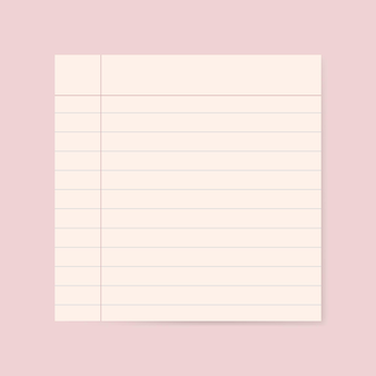 Grafica in carta a righe bianche