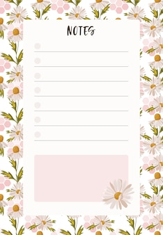 Blank to do list with place for notes.