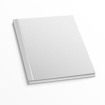 Blank magazine cover template on white
