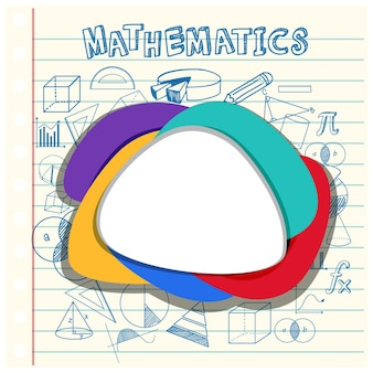 Blank math template with math tools and elements