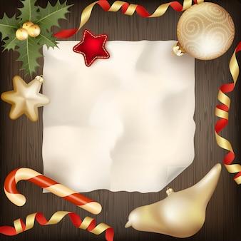 空白のメリークリスマスのグリーティングカードの背景