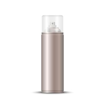 Blank metal bottle spray aerosol