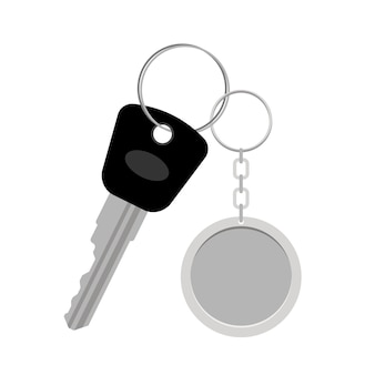 Blank metal keyring or keychain