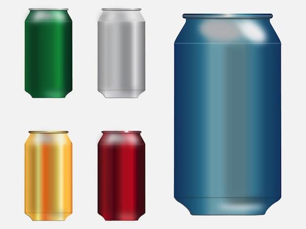 Blank metal soda cans