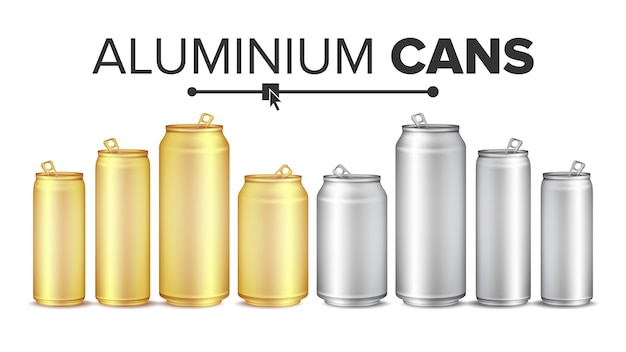 Blank metallic cans