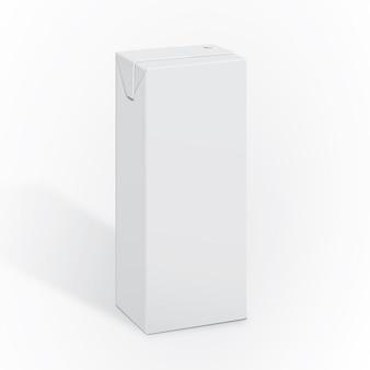 Blank milk packaging