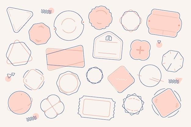 Blank minimal badge set