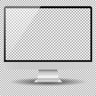 Blank monitor screen computer mockup
