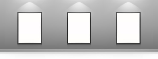 Blank movie posters, white picture frames