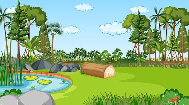 Blank nature park landscape at daytime scene