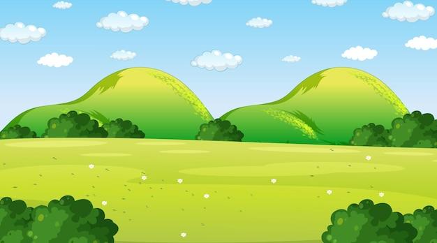 Пустой природный парк пейзажная сцена в дневное время