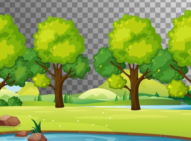 Blank nature scene landscape