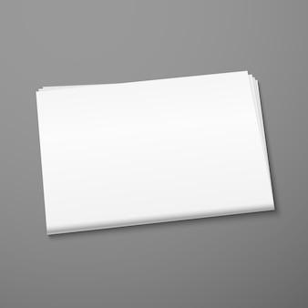 Blank newspaper mockup