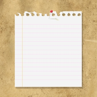 Blank note paper on cardboard background,