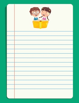Blank note papers for children education