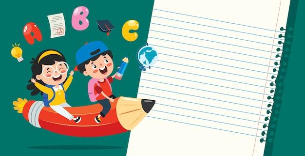 子供の教育のための空白のメモ用紙
