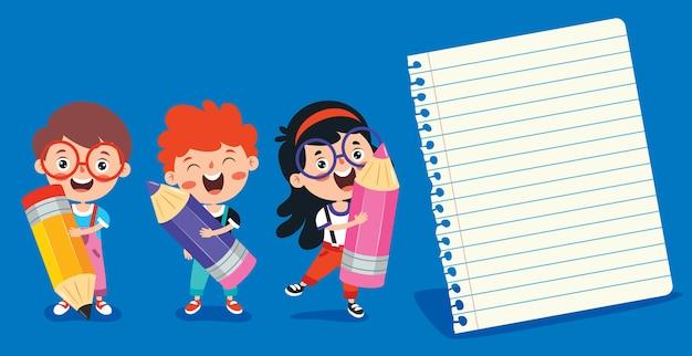 Пустые записки для образования детей