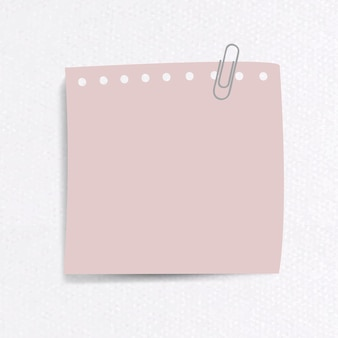 Blank notepaper set with clip on textured paper background