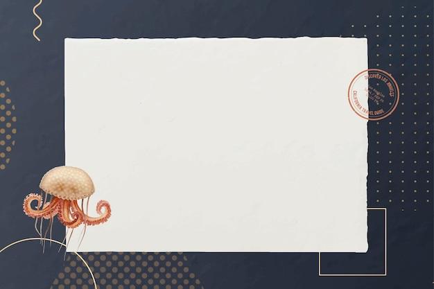 Vettore di disegno di carta di polpo bianco
