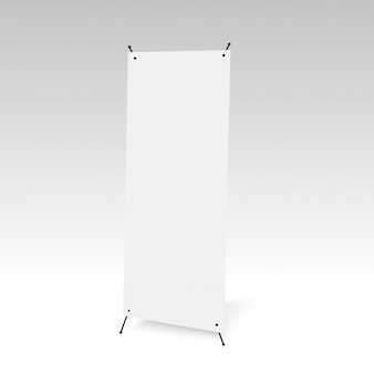 Blank of bag on grey background. Vector.