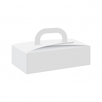 Blank of gift box with handle