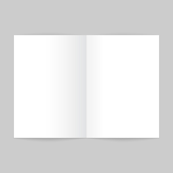 빈 오픈 잡지 템플릿입니다. 브로셔 모형