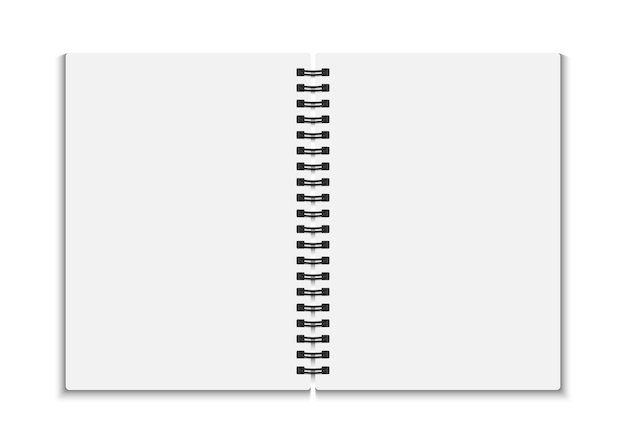 Blank open notebook.   illustration