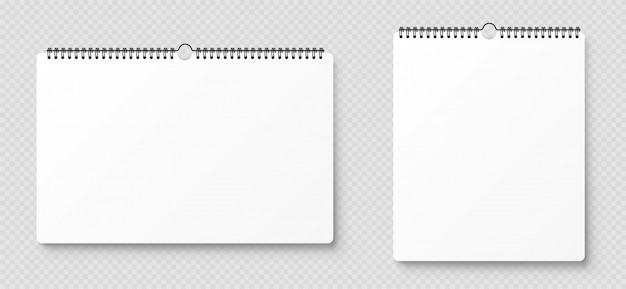 Blank opened notebook, template with soft shadows on transparent background. front view.
