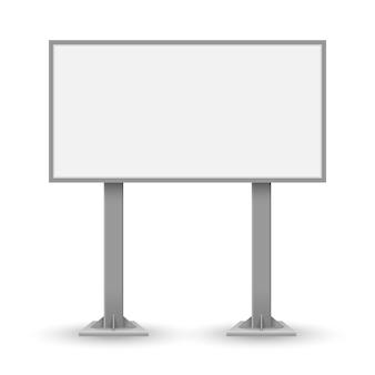 Blank outdoor billboard isolated
