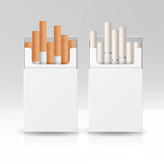 Blank pack package box of cigarettes 3d
