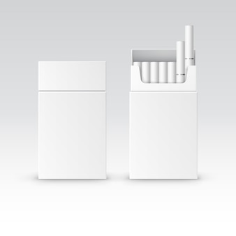 Blank pack package box of cigarettes