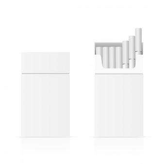 Blank package box of ciggarette
