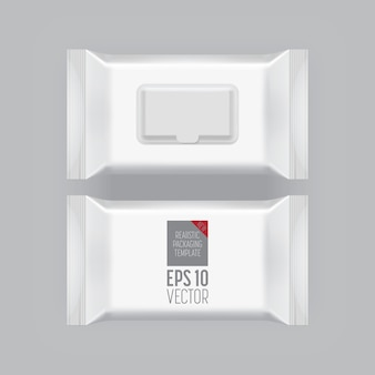 Blank packaging template isolated on grey.