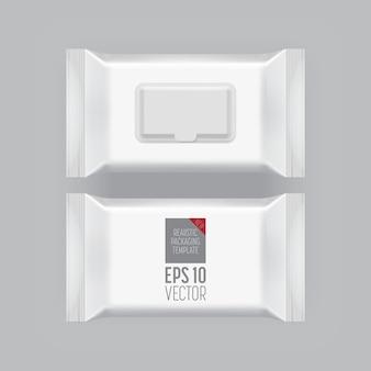 Пустой шаблон упаковки, изолированные на серый.