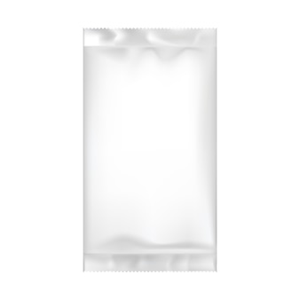 Blank packaging template isolated on white.