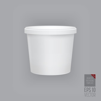 Blank packaging template  isolated