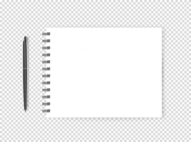 Blank page with a pen
