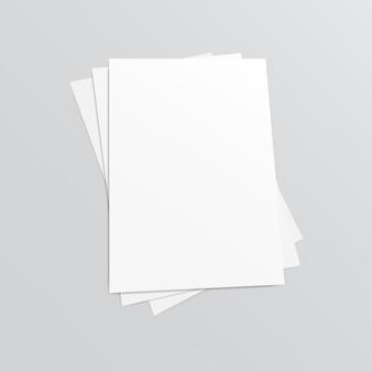 Брошюра чистого листа