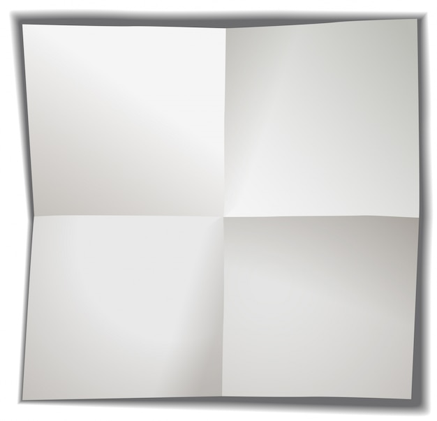Blank paper folded in four