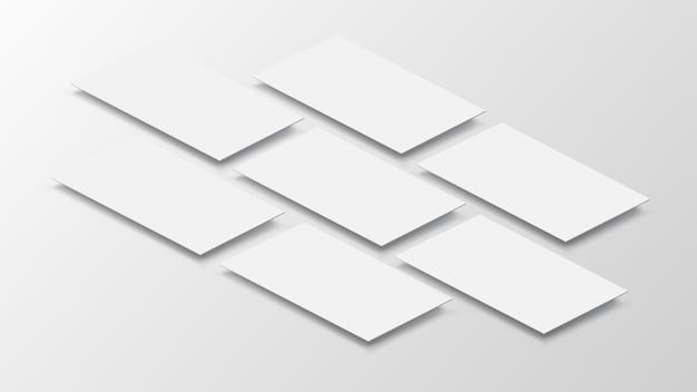 白紙の透視図