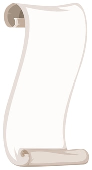 A blank paper roll template