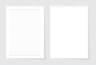 Blank paper sheet from writing pad vector
