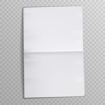 Blank paper sheet. tabloid newsprint magazine. media newspaper open pages. Premium Vector